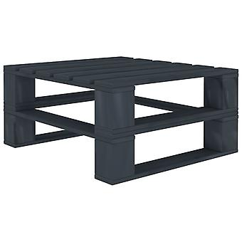 vidaXL Garden Pallet Table Grey Wood
