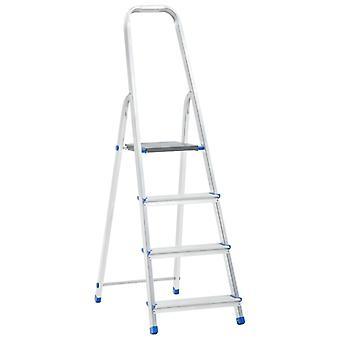 vidaXL Aluminum Step Ladder 4 Steps 150 kg