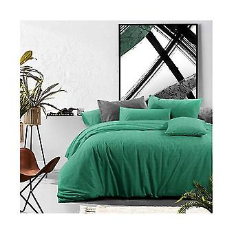 Amsons Mountain Meadow Cotton Quilt Cover Set Textured Print Green