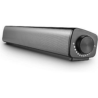 FengChun PC Lautsprecher Soundbar Verdrahtet USB mit Mikrofoneingang und Kopfhörerausgang Fassender