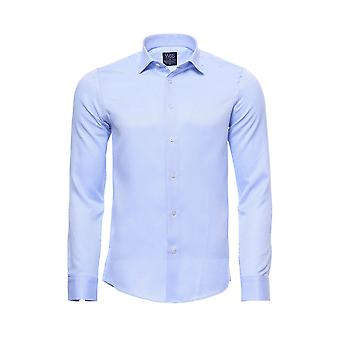 Patterned casual light blue shirt