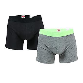 Men: n Levis injektoidaan Slub 2 Pack Boxer Shortsit harmaa