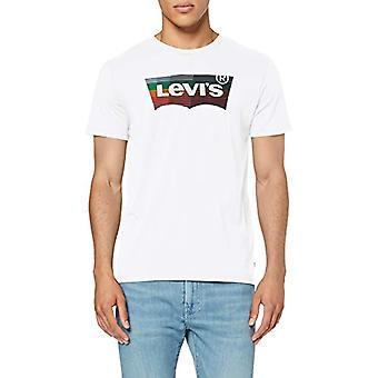 Levi es Housemark Graphic T-Shirt, Herren T-Shirt, Weiß (Hm Ssnl White 0207), X-Small