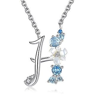 Gemshadow initial Sterling 925 silver necklace with zircon letter personalized gifts for girls and 925, cod. AQEN000061
