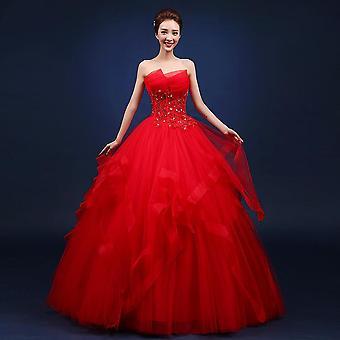 Κόμμα Prom κομψό στράπλες φόρεμα φόρεμα μπάλα (σετ 2)