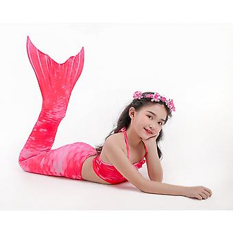 Uimapuku tyttöjen merenneito lasten bikinit kolmiosainen puku uimapuvut