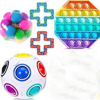 Fidget Zabawki sensoryczne Zestaw Zestaw Stress Relief Zabawki