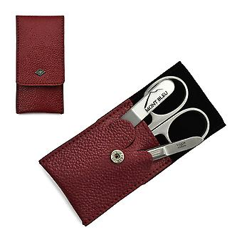 Giesen & Forsthoff's Timor 3-piece Manicure Set in Red Leather Case