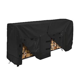 96*24*42Inches black outdoor garden 600d oxford cloth waterproof and durable firewood shed firewood cover firewood rain cover x4544