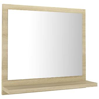 vidaXL Espejo de baño Sonoma Roble 40x10,5x37 cm Aglomerado