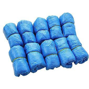 Shoe Covers Plastic Disposable Rain Boots / Shoe Covers Mud-proof Blue