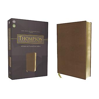 NASB Thompson ChainReference Bible Leathersoft Brown Red Letter 1977 Text by General editor Dr Frank Charles Thompson