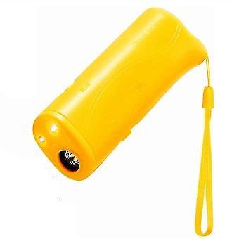 Pet Dog Repeller Anti Barking Stop Bark Training Device Trainer(Yellow)