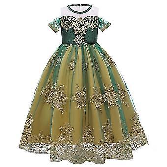 Mrożone Anna Queen Sukienka dziecięca Księżniczka Sukienka Cosplay Kostium (140CM)