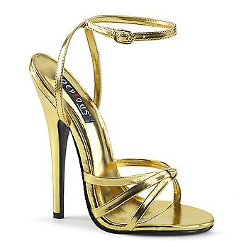 Devious Women's Shoes DOMINA-108 Gold Metallic Pu