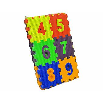 Matrax Eva Puzzle Play Mat, Maths, 12 x 12 cm x 7 mm, 30 Pieces, BPA Free, Safe, Educational