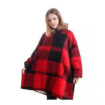 Blanket Pullover Children Can Wear Hooded Blanket Pockets(Hg)