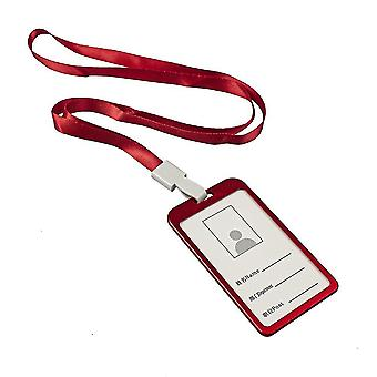 Kartenhalter mit Band, rot