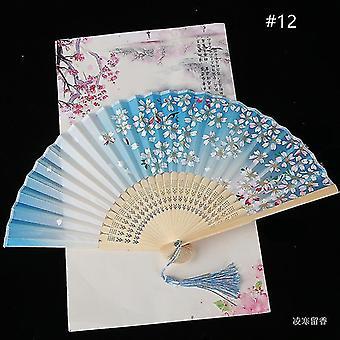 Китайский винтажный стиль складной фан-арт крафт подарок танец ручной вентилятор домашнее украшение украшения (#12)