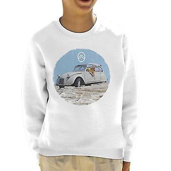 Citroen 2CV Vintage Foto Kid's Sweatshirt