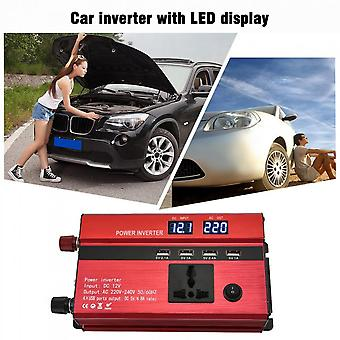 Portable 650w Power Car Inverter With Lcd Display 12v-220v With 4 Usb Ports