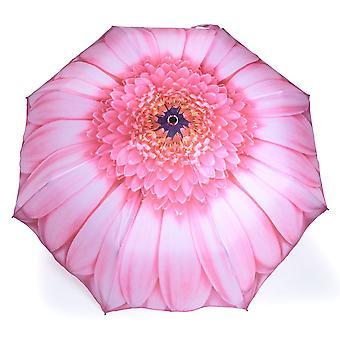 Umbrella automatic Pocket umbrella motif Gerbera pink