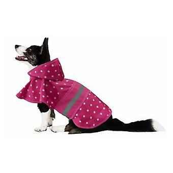 Fashion Pet Polka Dot Dog Raincoat Pink - X-Large