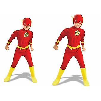 Child The Flash Muscle Chest Outfit Fancy Costume Dress Boys