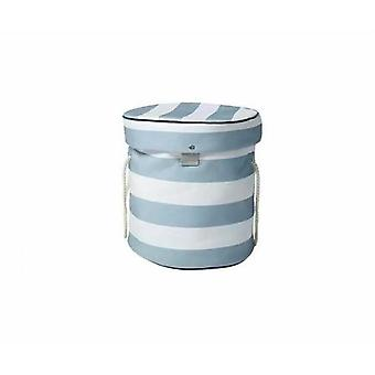 Foldable Children's Toy Storage Bag (gray And White Stripes)