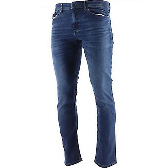 BOSS Dark Blue Delaware Super-Stretch Slim Fit Jean