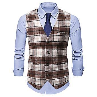 Allthemen Men's Gentleman's Casual Single-breasted Waistcoat Formal Wear Vest