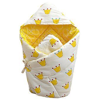 Homemiyn Baby Katoen Quilt Warme Comfortabele Deken Alle Seizoenen (90x90CM)(Geel)