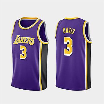 Los Angeles Lakers Davis Loose Basketball Jersey Maillots de sport