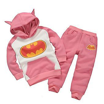 Copii Boys Girls Batman Hoodie Tricou Topuri Pantaloni Set Outfit Haine
