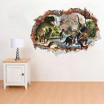 Dinosaurier Wandaufkleber 3D Ansicht Wanddekoration Abnehmbare Diy Home Decals