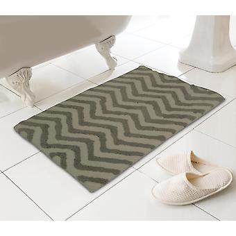 Country Club Chevron Bath Mat, Natural 45 x 74cm