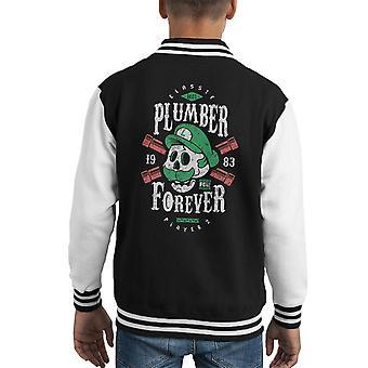Plombier Forever Super Luigi Mario Bros Kid de Varsity Jacket