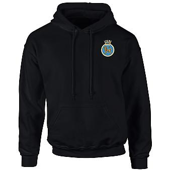 HMS Superb Embroidered Logo - Official Royal Navy Hoodie
