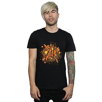 マーベル メンズ アベンジャーズ組み立てるハロウィーン クモ ロゴ t シャツ
