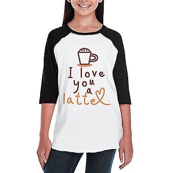 Amore una Latte Kids Baseball Raglan camicia