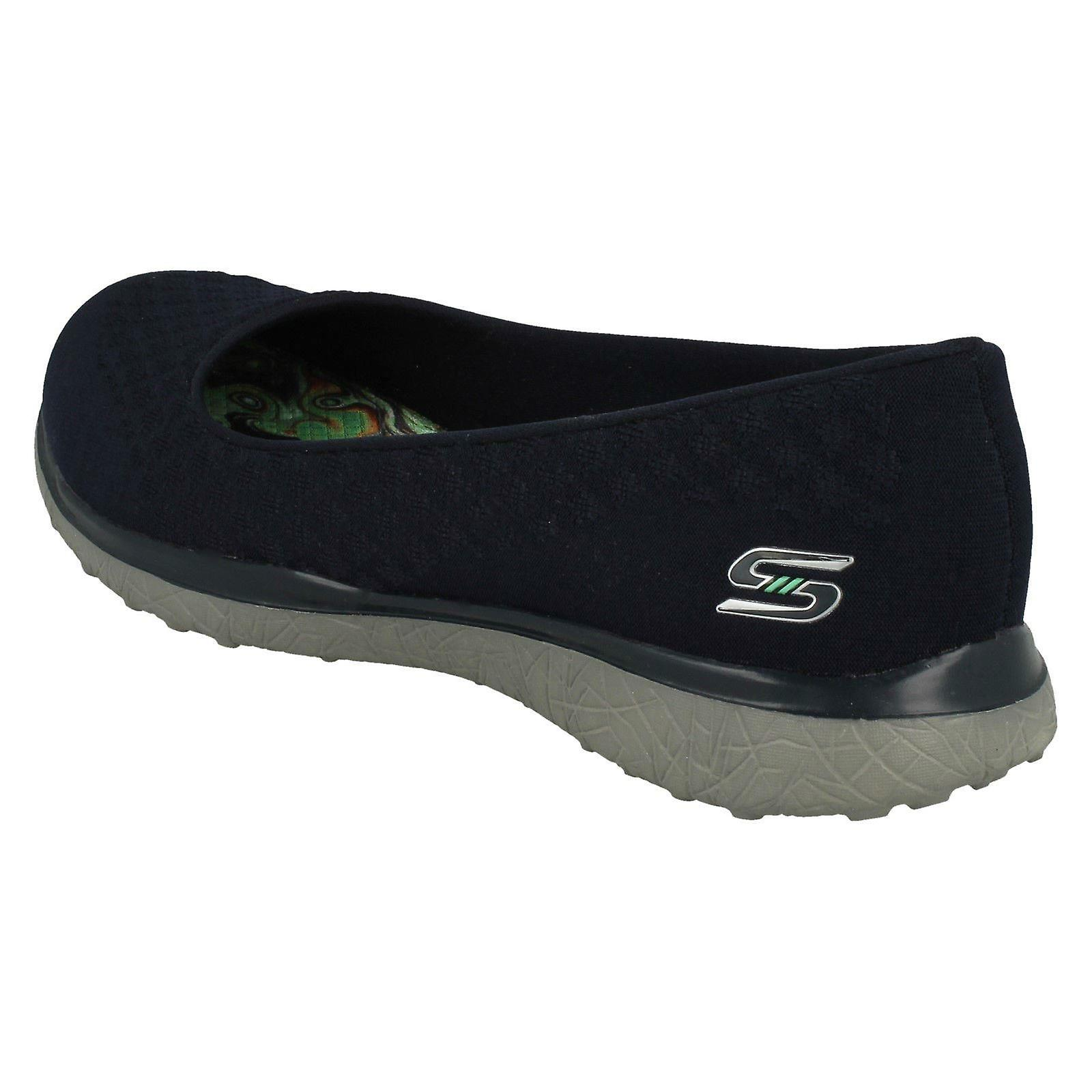 Ladies Skechers Memory Foam Shoes One Up 23312 Navy Textile UK Size 5 EU Size 38 US Size 8