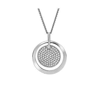 Orphelia Silver 925 kedja med hänge 2 cirklar med zirkonium ZH-7354