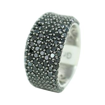 ESPRIT collection ladies ring silver black cubic zirconia Aphrodite ELRG91614B