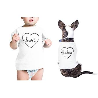 Best Babes Pet Baby White Cotton Tees Funny Matching Gift Ideas