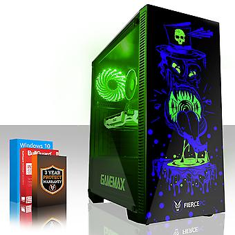 Felle GOBBLER Gaming PC, snelle Intel Core i7 8700 K 4.5 GHz, 2 TB SSHD, 8 GB RAM, RTX 2060 6 GB