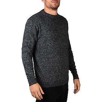 KRISP Mens Soft Wool Knitted Round Crew Neck Warm Jumper Pull Grandad Pullover Top
