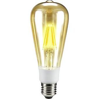 Sygonix LED EEC A++ (A++ - E) E27 Bulged 7 W = 60 W Warm white (Ø x L) 64 mm x 164 mm Filament, dimmable 1 pc(s)