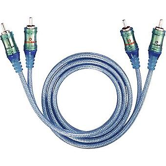 RCA Audio/phono Cable [2x RCA plug (phono) - 2x RCA plug (phono)] 0.50 m Transparent-blue gold plated connectors Oehlbach Ice Blue