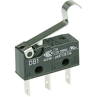 ZF Microswitch DB1C-B1SC 250 V AC 6 A 1 x On/(On) momentary 1 pc(s)