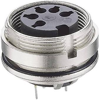 Lumberg 0307 08-1 DIN connector Socket, verticale verticale aantal pins: 8 zilver 1 PC('s)